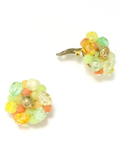 1940's Womens Accessories - Clip Back Earrings