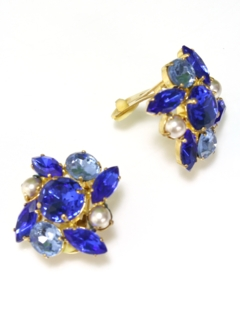 1950's Womens Accessories - Clip Back Earrings