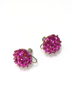 1950's Womens Accessories - Screw Back Earrings