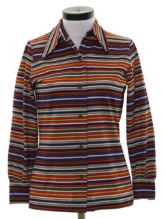 1960's Womens Mod Print Shirt