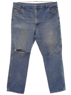 1980's Mens Grunge Tapered Leg Denim Jeans Pants