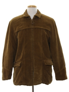 1960's Mens Corduroy Car Coat Jacket