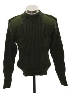 1980's Mens Wool Military Sweater