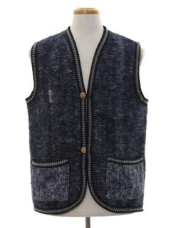 1980's Mens Hippie Style Vest