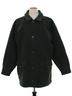 1980's Mens Wool Car Coat Jacket