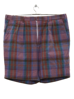 1980's Mens Plaid Bermuda Shorts