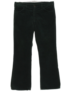 1970's Mens Corduroy Bellbottom Jeans Cut Pants