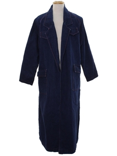 1980's Unisex Denim Overcoat Trench Jacket