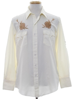 1980's Mens Embroidered Western Shirt