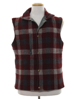 1980's Mens Totally 80s Reversible Wool Vest