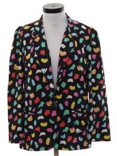 1980's Womens Totally 80s Boyfriend Style Blazer Jacket
