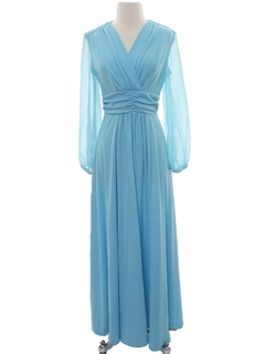 1970's Womens Prom Or Cocktail Dress