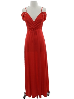 1970's Womens Maxi Prom Or Cocktail Dress