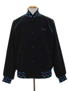 1990's Mens Baseball Style Snap Jacket