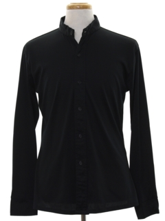 1970's Mens Solid Mod Disco Shirt