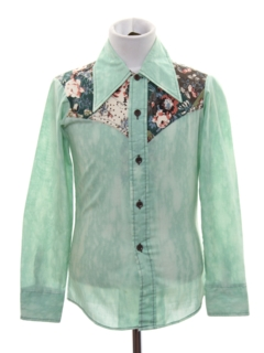 1970's Mens/Boys Western Style Shirt