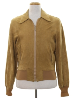 1980's Mens Suede Leather Jacket