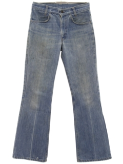 1970's Unisex Flared Leg Denim Jeans Pants