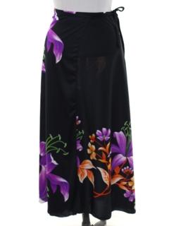 1980's Womens Hawaiian Style Wrap Skirt