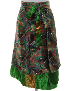 1990's Womens Reversible Hippie Wrap Skirt
