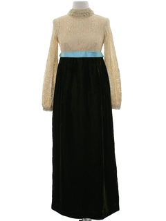 1960's Womens Mod Maxi Prom or Cocktail Dress