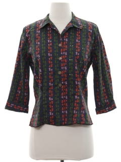 1960's Womens Mod Secretary Shirt