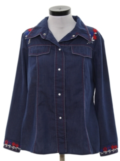 1970's Womens Western Denim Leisure Jacket