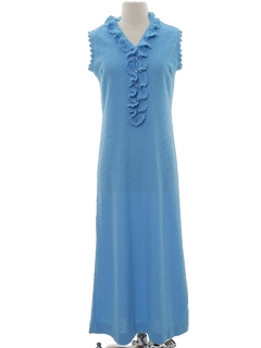 1970's Womens Maxi Knit Cocktail Dress