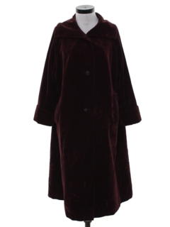 1950's Womens Long Velvet Coat Jacket