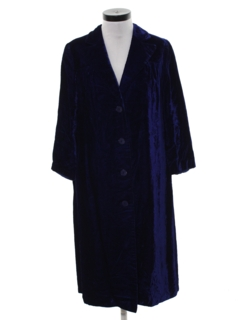 1960's Womens Long Velvet Coat Jacket