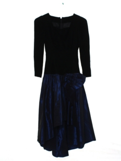 1980's Womens Totally 80s Asymmetrical Prom Or Cocktail Dress