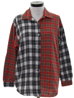 1980's Womens Totally 80s Flannel Shirt