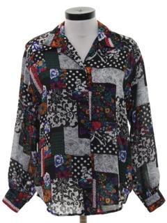 1980's Womens Totally 80s Secretary Shirt