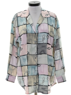 1980's Womens Oversized Totally 80s Shirt