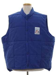 1980's Mens Work Style Ski Vest Jacket