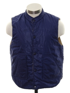 1980's Mens/Boys Totally 80s Reversible Ski Vest Jacket