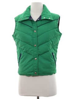 1980's Womens Totally 80s Ski Vest Jacket