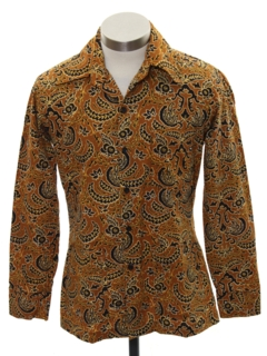 1970's Mens/Boys Hippie Style Sport Shirt