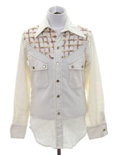 1970's Mens/Boys Western Shirt