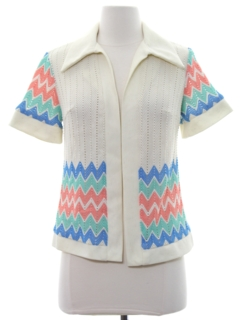 1970's Womens Knit Shirt-Jac Shirt