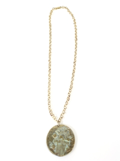 1970's Unisex Accessories - Disco Medallion Necklace