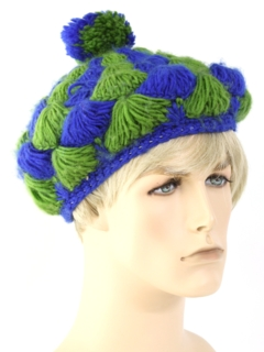 1970's Unisex Accessories - Mod Knit Hat