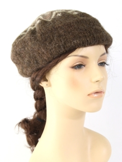 1980's Womens Accessories - Wool Beret Hat