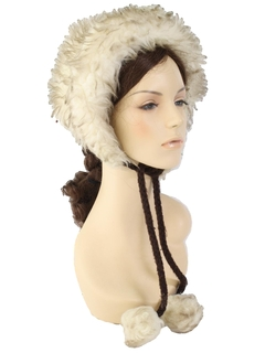 1970's Womens Accessories - Faux Fur Hat