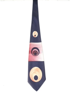 1940's Mens Wide Swing Hand Painted Necktie