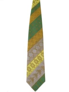 1960's Mens Mod Wide Diagonal Necktie