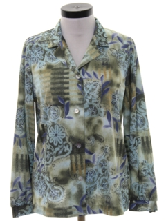 1980's Womens Print Disco Inspired Shirt