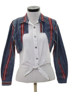 1990's Womens Wicked 90s Cropped Western Shirt