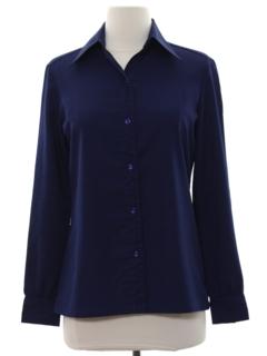 1970's Womens Solid Disco Shirt