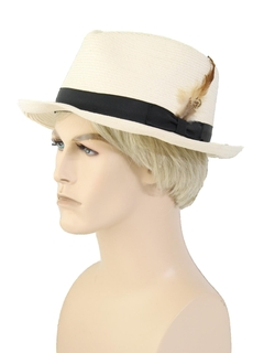 1990's Mens Accessories - Straw Fedora Hat